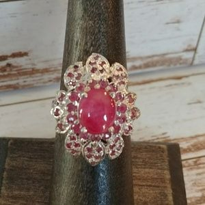 Jewelry - Gorgeous Ruby & Sterling Silver Ring